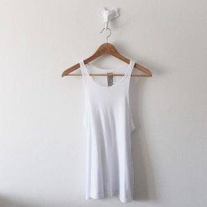 💕Free People Ribbed Flare Tank Top L1011